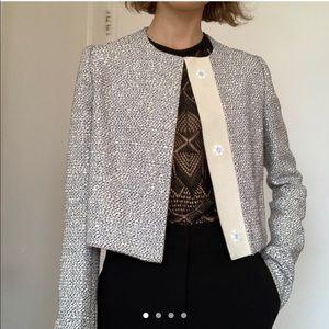 Proenza Schouler collarless tweed jacket